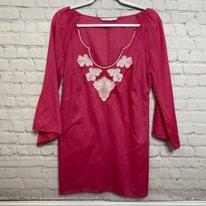 Trina Turk Pink Embroidered Tunic